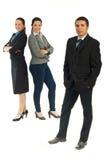 Geschäftsmann und Team der Geschäftsfrauen Lizenzfreie Stockfotos