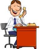 Geschäftsmann und Telefon lizenzfreie abbildung