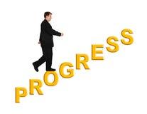 Geschäftsmann-und Treppe Fortschritt lizenzfreies stockfoto