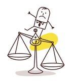 Geschäftsmann und Unausgeglichenheit stock abbildung
