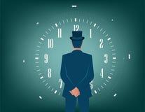 Geschäftsmann und Zeit für Lösungen Stockfoto