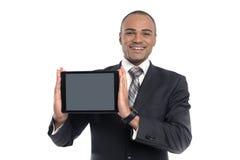 Geschäftsmann unter Verwendung der digitalen Tablette Stockfotos