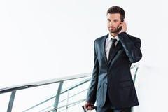 Geschäftsmann unterwegs Stockbilder