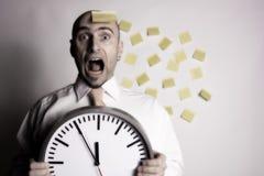 Geschäftsmann vergisst seinen Zeitplan Stockfotografie