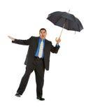 Geschäftsmann: Versuchen, ausgeglichen zu bleiben Stockbilder