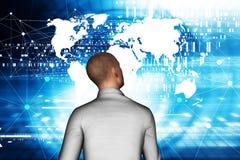Geschäftsmann In Virtual Reality Lizenzfreie Stockfotos