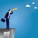 Geschäftsmann Vision Concept Stockfoto