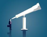Geschäftsmann Vision Concept Stockfotografie