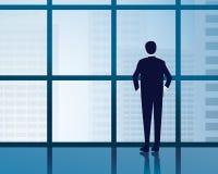 Geschäftsmann Vision Concept Stockfotos