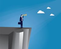 Geschäftsmann Vision Concept Lizenzfreies Stockfoto