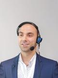 Geschäftsmann Voice Technology Stockbilder