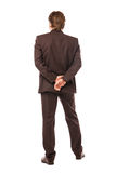 Geschäftsmann vom rückseitigen, etwas betrachtend Lizenzfreies Stockfoto