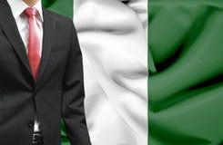 Geschäftsmann von Nigeria-Begriffsbild stockfotografie