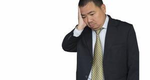 Geschäftsmann vor einem Computer Stockfotos