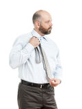 Geschäftsmann wählt Bindung vor Lizenzfreie Stockbilder
