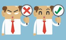 Geschäftsmann wahr und Ausfallungssymbol Lizenzfreie Stockbilder