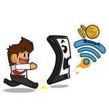 Geschäftsmann wifi Konzept Stockfotos