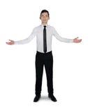 Geschäftsmann-Willkommensgeste Lizenzfreies Stockfoto