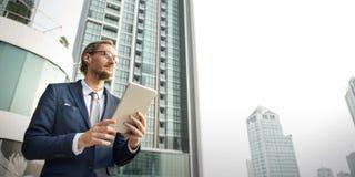 Geschäftsmann Working Connecting Concept Lizenzfreies Stockbild