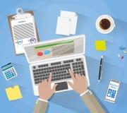 Geschäftsmann Workplace Desk Stockfoto
