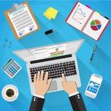 Geschäftsmann Workplace Desk Stockbilder