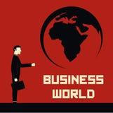 Geschäftsmann World Lizenzfreie Abbildung