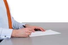 Geschäftsmann Writing Lizenzfreie Stockbilder