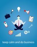 Geschäftsmann in Yogaposition Ruhe entspannen sich im Geschäft Stockfotos