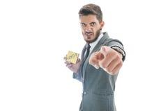 Geschäftsmann-Zündungsangestellter Lizenzfreies Stockfoto