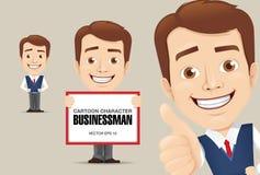 Geschäftsmann-Zeichentrickfilm-Figur Stockfotos