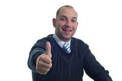 Geschäftsmann zeigt sich Daumen Lizenzfreie Stockfotografie