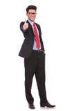 Geschäftsmann zeigt sich Daumen Lizenzfreies Stockbild