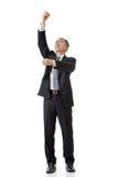 Geschäftsmann ziehen hoch Stockbilder