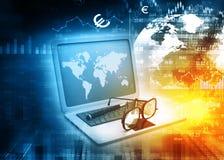 Geschäftsmannanalysieren Lizenzfreie Stockbilder