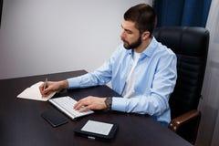 Geschäftsmannarbeiten Lizenzfreie Stockfotografie