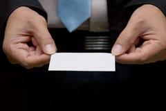 Geschäftsmannarchivierungsvisitenkarte Lizenzfreie Stockfotografie