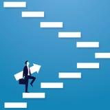 Geschäftsmannaufstiegs-Erfolgsleiter Lizenzfreie Stockbilder