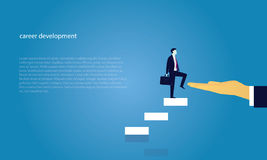 Geschäftsmannaufstiegs-Erfolgsleiter Stockfoto