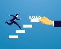 Geschäftsmannaufstiegs-Erfolgsleiter Lizenzfreies Stockbild