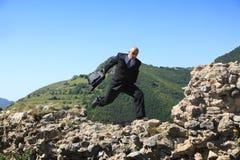 Geschäftsmannbetrieb Lizenzfreies Stockfoto
