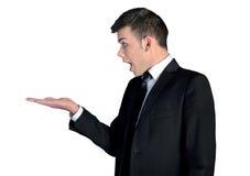 Geschäftsmanndarstellen Lizenzfreies Stockfoto