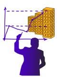 Geschäftsmanndarstellung Stockbilder