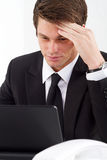 Geschäftsmanndenken Lizenzfreies Stockfoto