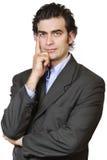 Geschäftsmanndenken lizenzfreie stockbilder