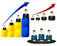 Geschäftsmanndiagrammikone Lizenzfreies Stockfoto