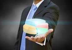 Geschäftsmanndiagrammkonzept Lizenzfreies Stockfoto