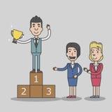 Geschäftsmannerfolg der Sieger Stockfotos