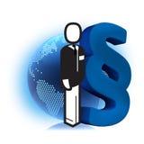 Geschäftsmannesrechte Lizenzfreies Stockbild