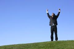 Geschäftsmannfeiern Lizenzfreies Stockbild