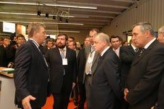 Geschäftsmannforumregler-Irkutsk-Journalisten minimal Lizenzfreies Stockfoto